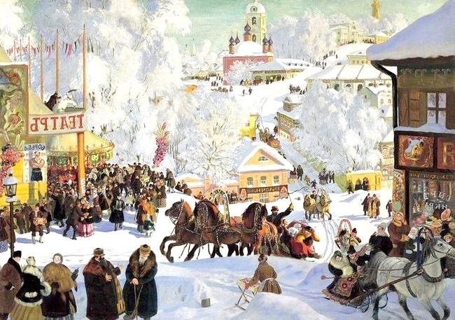 Масляна в живописі: [i] Борис Кустодієв