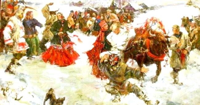 Масляна в живописі: [i] Анна Виноградова «Масляна» [/ i]