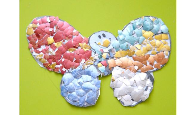 Майструємо разом з дітьми: Падалка можна робити не тільки з цільної шкаралупи, а й подрібнивши її, вийти мозаїка кракле. Для неї дуже добре підійде