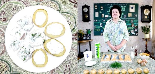 Світові бабусі: Кекава, Латвія. Бабуся: Инара Рунтуле, 68 років. Блюдо: сильці (оселедець з картоплею і сиром)
