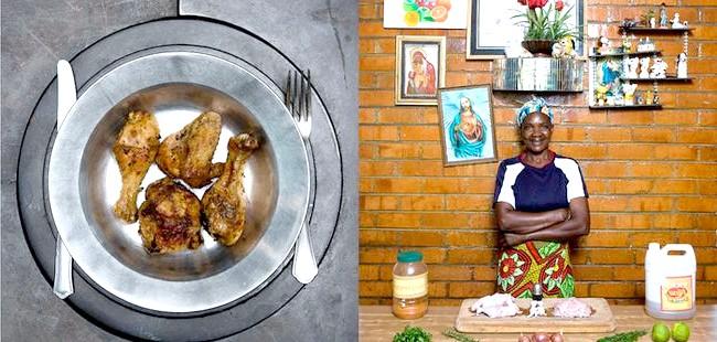 Світові бабусі: Калулуші, Замбія. Бабуся: Джойс Муапе, 49 років. Блюдо: інкоко нама (смажена курка зі спеціями)