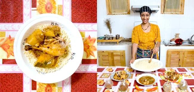 Світові бабусі: Тімімон, Алжир. Бабуся: Лебгаа фана, 42 роки. Блюдо: курка з овочами.