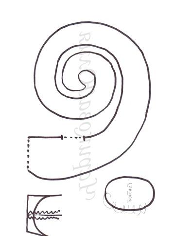МК: Шиття змійок: Викрійка 1