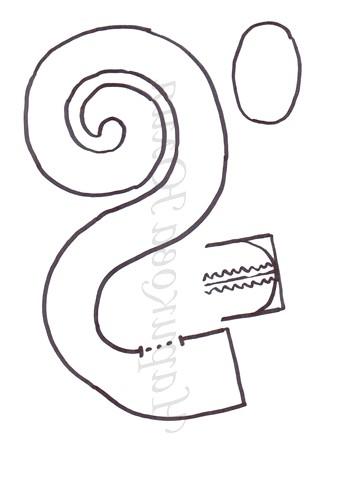 МК: Шиття змійок: Викрійка 2