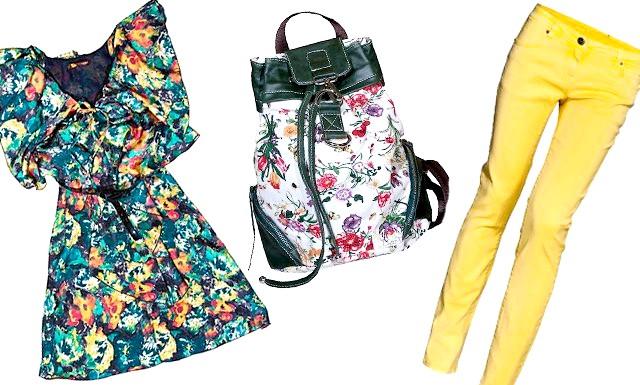 Модне літо - 2012: як бути в тренді ?: [i] Штани New Yorker, 999 руб., Жіноча сумка-рюкзак ціна Westland, 1390 руб., Сукня Westland, 2490 руб. [/ I]