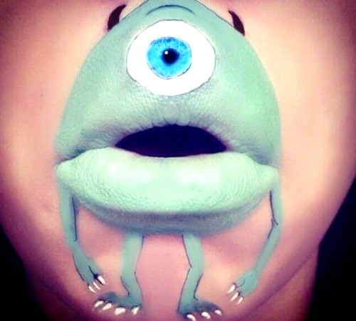 Мультяшний рот, або як розважитися візажиста: Майк вазівська