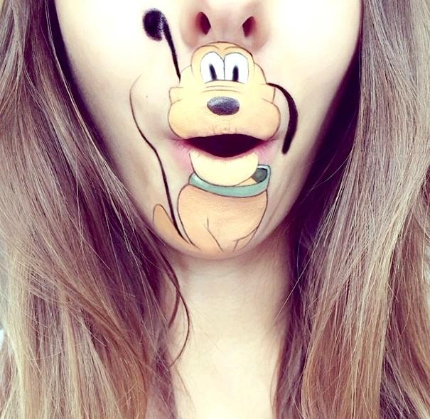 Мультяшний рот, або як розважитися візажиста: Плуто
