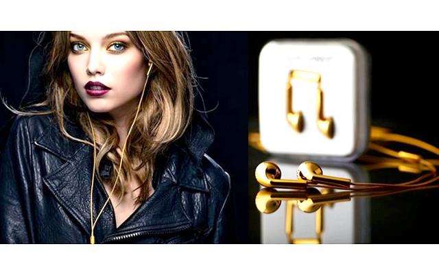 Навушники з золота для iPhone 5S: Девайс можна купити всього лише за $ 14,5 тисяч.Гаджет для золотого iPhone 5SЕслі Ви
