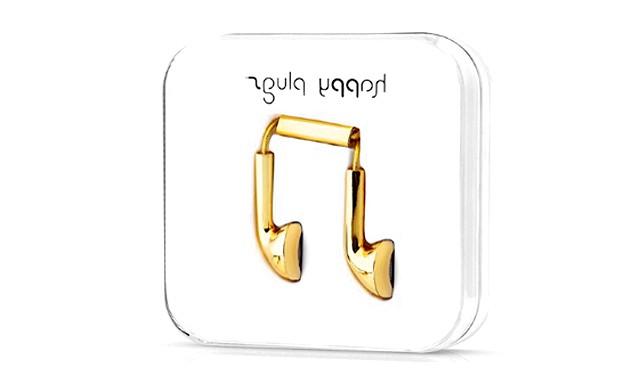 Навушники з золота для iPhone 5S: На один навушник у майстрів йде 25 г золота, на два - 50 г. За цю елітну техніку доведеться заплатити