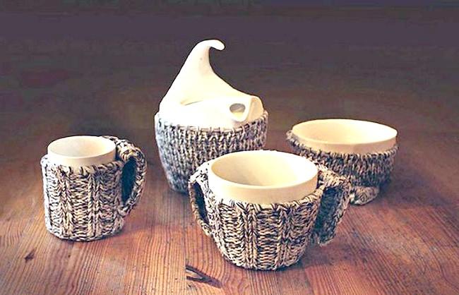 Незвичайні ідеї для дому: І одягнути чашки потепліше