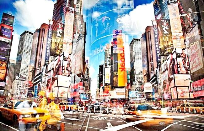Нереальна реальність Ніколя Рюеля: Нью-Йорк. Як говорить сам фотограф, його робота перетворює будь міське чи сільське простір в вигадану середу.