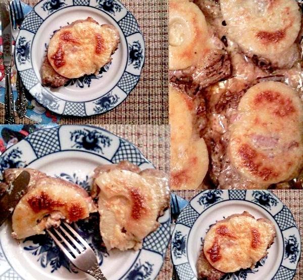 Новорічне меню за рецептами еварушніц: М'ясо по-французьки на китайський лад [/ url] Рецепт від [url = http: / /proevu.ru/344279]YanaQueenІнгредіенти: 6 свинячих стейків з