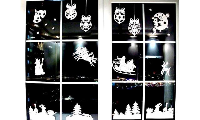 Новорічне оформлення вікон