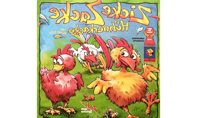 Огляд дитячих настільних ігор: курчачі бігу (від 4-х років) Zicke Zacke Huhnerkacke або Chicken Cha Cha Cha була вперше видана в 1998