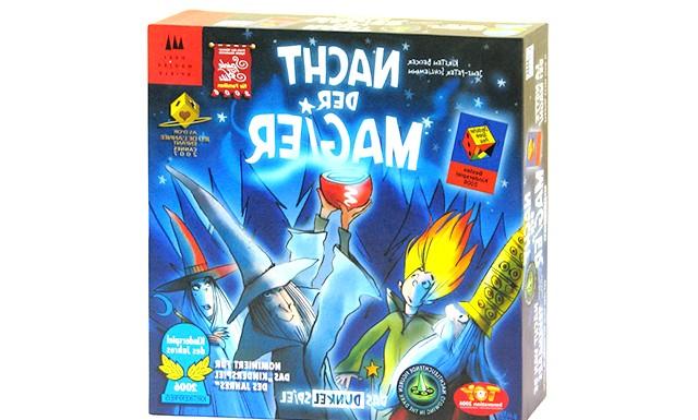 Огляд дитячих настільних ігор: Ніч магів (від 6 років) Гра ведеться в темряві. Видно тільки магічні котли, капелюхи чарівників і чарівне полум'я.