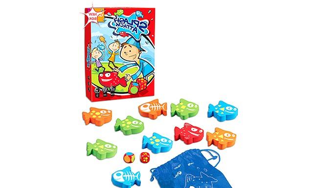 Огляд дитячих настільних ігор: 8. ЛогікаСплеш Атак (Splash-attack) (від 5 років) Гравцям треба швидше своїх суперників наловити (і