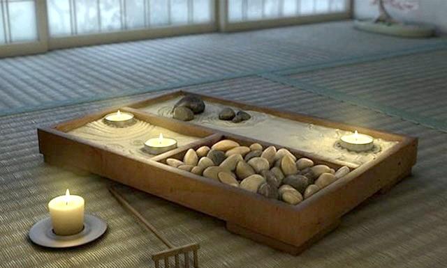 Оригінальні ідеї для використання натурального каменю: Японський садок для релаксації