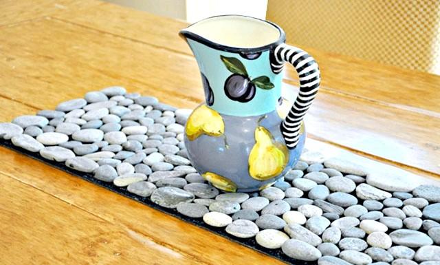 Оригінальні ідеї для використання натурального каменю: Підставка під гаряче