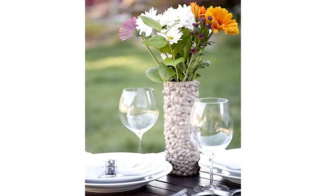 Оригінальні ідеї для використання натурального каменю: Квіткова ваза