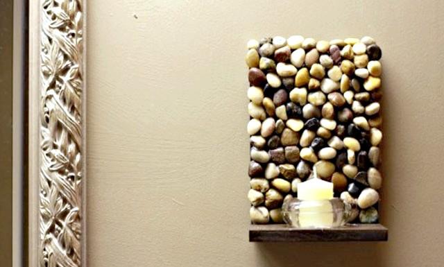 Оригінальні ідеї для використання натурального каменю: Стильна кам'яна поличка