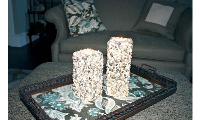 Оригінальні ідеї для використання натурального каменю: Оригінальні свічки