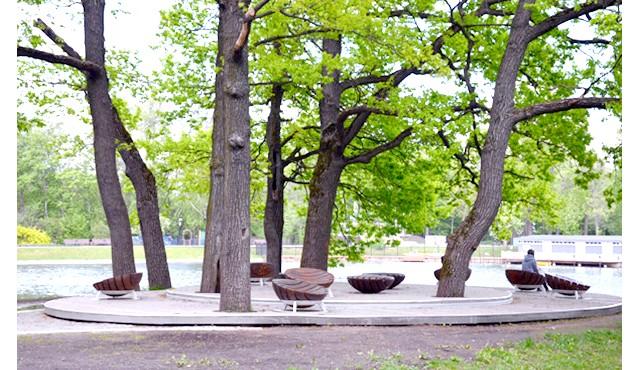 Останкінський парк після реконструкції: Одним з приємних нововведень є майданчик для шашлику. Вона знаходиться в лівій частині парку, якщо орієнтуватися від центральної алеї. Ця