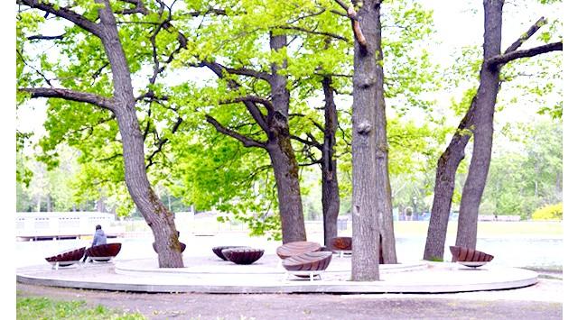 Останкінський парк після реконструкції: Але якщо пройти далі, в найдальшу частину парку, там можна виявити ще один майданчик з кількома столиками і мангалами