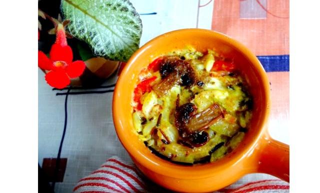 Пісний жюльєн з овочів з рисом: Інгредієнти для
