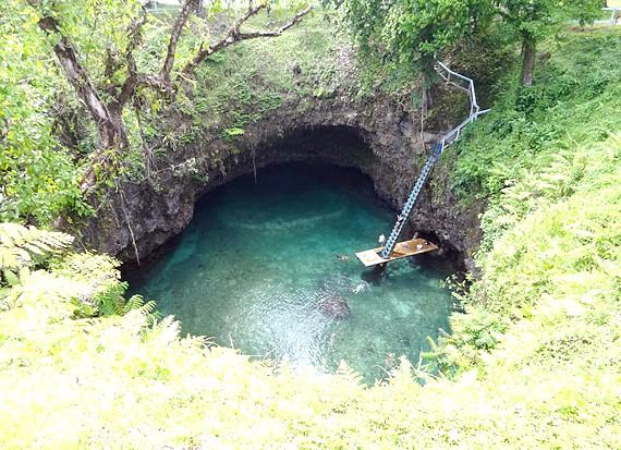 Природний басейн острова Уполу: