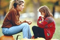Розмова мами з дитиною