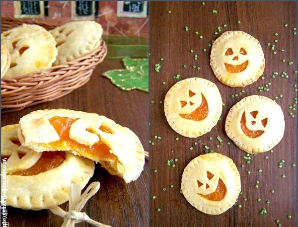 Рецепти на Хелловін: А тепер можна зайнятися і [url = http: //proevu.ru/recipes/read-14645.htm] печивом [/ url]. Дуже смачне, тісто несолодке, хрустке, а всередині (під посмішкою) ароматний яскравий джем!