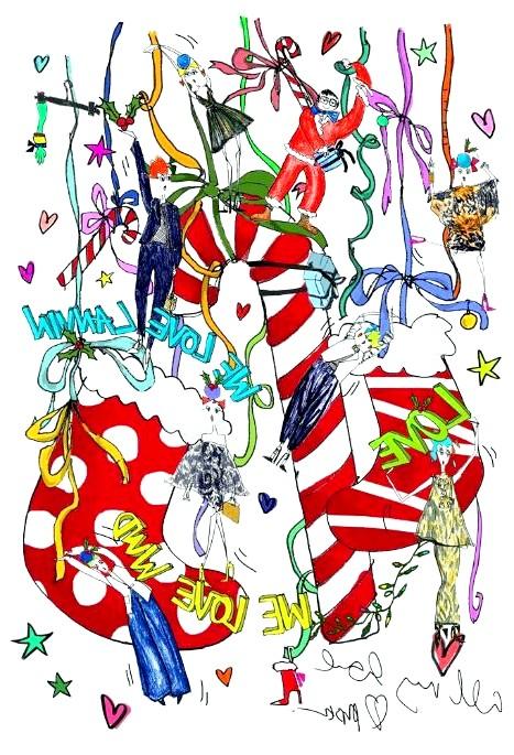 Різдвяні панчохи очима модних дизайнерів: [center] [i] Alber Elbaz [/ i] [/ center]