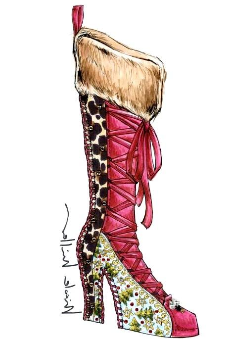 Різдвяні панчохи очима модних дизайнерів: [center] [i] Nicole Miller [/ i] [/ center]