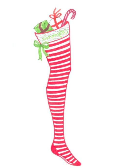 Різдвяні панчохи очима модних дизайнерів: [center] [i] Olympia Le-Tan [/ i] [/ center]