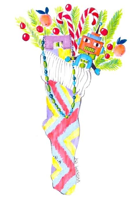 Різдвяні панчохи очима модних дизайнерів: [center] [i] Andrew Gn [/ i] [/ center]