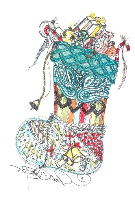 Різдвяні панчохи очима модних дизайнерів: [center] [i] Etro [/ i] [/ center]