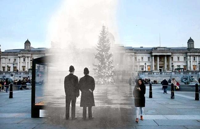 Різдво через призму часу: Трафальгарська площа, сучасність і 1948