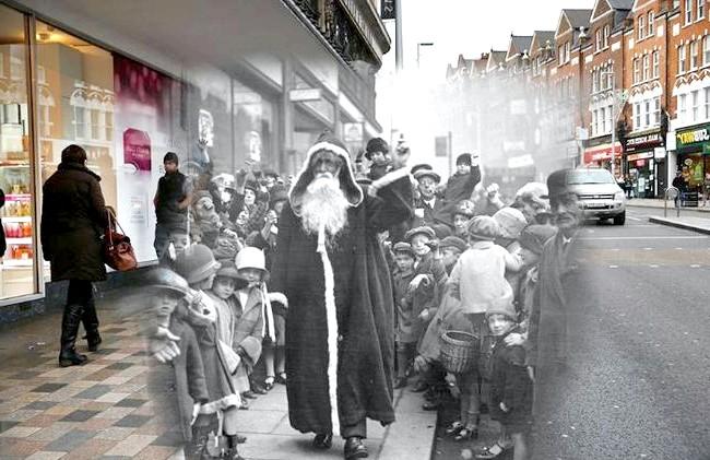 Різдво через призму часу: Лондонський район Клепхем, сучасність і 1926