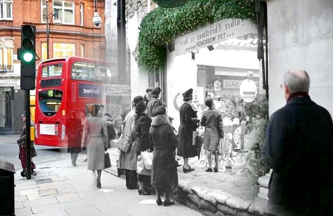 Різдво через призму часу: Вітрина універмагу Selfridges, сучасність і 1939