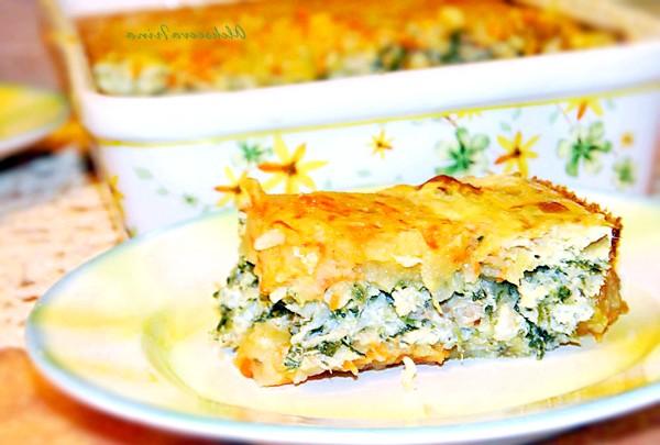 Рибна запіканка: - рибне філе будь-яке - картопля - морква - цибуля ріпчаста - яйце - шпинат