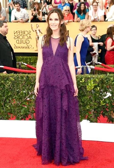 SAG Awards 2014: вбрання зірок: Кіра Найтлі, нещодавно визнана найстильнішою вагітної зіркою.