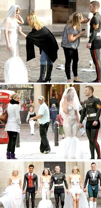 Самі екстравагантні вбрання наречених: Насправді це не справжнє весілля, а кадри з реаліті-шоу, яке йшло на британському телебаченні. Кілька учасників повинні були