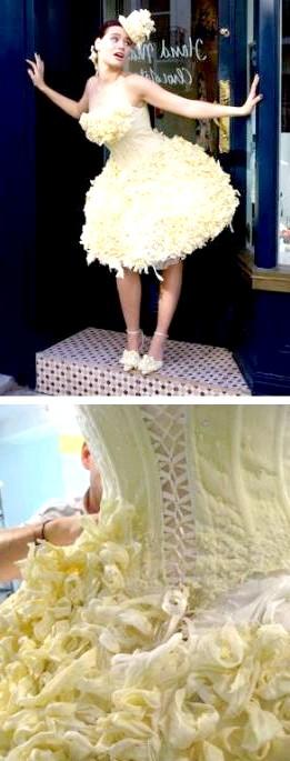 Самі екстравагантні вбрання наречених: Шанталь Коад і Ян Стюарт протягом багатьох років вели переговори про створення шоколадного весільного плаття, і в 2008 році