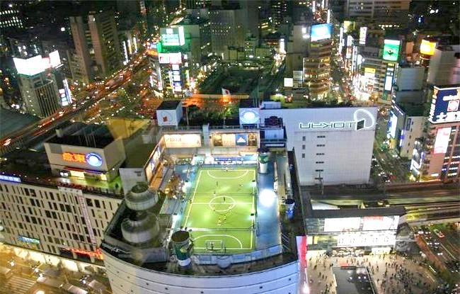 Самі незвичайні даху: Футбольне поле, Токіо, Японія