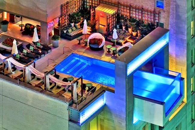 Самі незвичайні даху Басейн на даху готелю Joule Hotel, Даллас, США