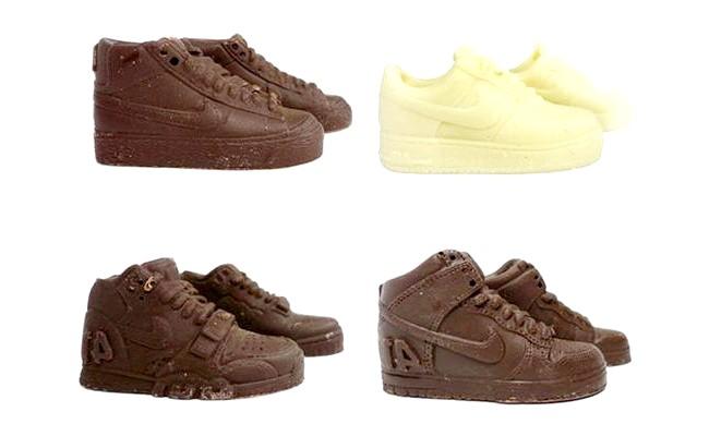 Найнеймовірніші шоколадні вироби: На честь 25-ї річниці появи однієї з найзнаменитіших моделей Air Force 1 від фірми Nike з'явилася партія смачного шоколаду.