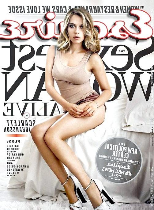 Найсексуальніші жінки за версією журналу Esquire: Скарлетт ЙоханссонАктріса Скарлетт Йоханссон на обкладинці журналу Esquire в листопаді 2013 року. Випуск цього журналу став
