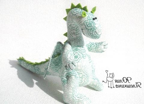 Текстильні дракончики до нового року: