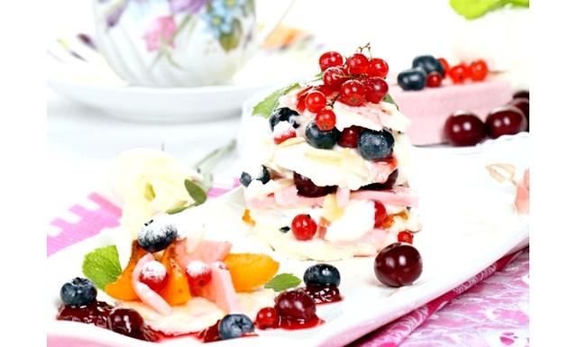 Торт на Новий Рік - найкращі рецепти: [color = Red] Торт із зефіру