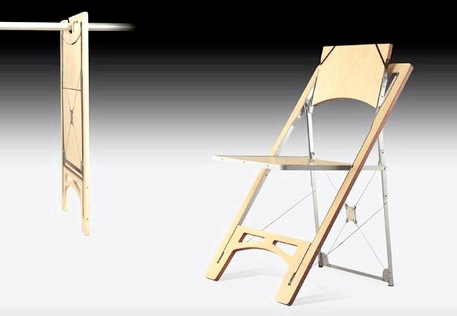 Речі для економії часу і порядку в домі: Складаний стілець від Folditure, який стає абсолютно плоским, чудово заощадить місце в інтер'єрі. Немає потреби зберігати його в коморі або